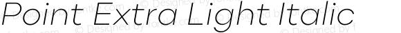 Point Extra Light Italic