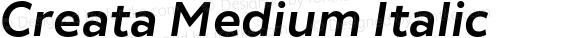 Creata Medium Italic