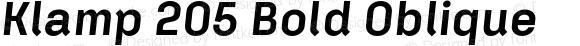 Klamp 205 Bold Oblique