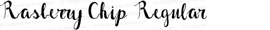 Rasberry Chip Regular Version 1.002;Fontself Maker 2.3.0