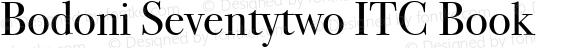 Bodoni Seventytwo ITC