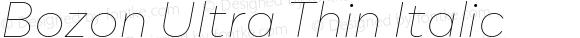 Bozon Ultra Thin Italic