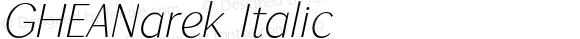 GHEANarek Italic 1.000