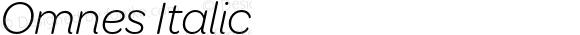 Omnes Italic Version 1.002; ttfautohint (v1.6)