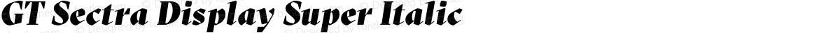 GT Sectra Display Super Italic