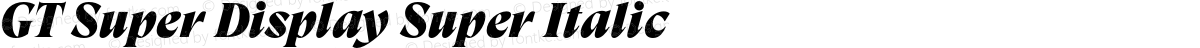 GT Super Display Super Italic