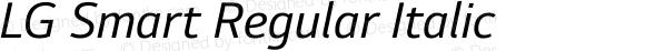 LG Smart Regular Italic