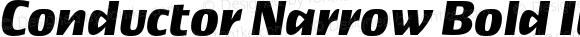 Conductor Narrow Bold Italic