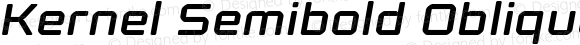 Kernel Semibold Oblique
