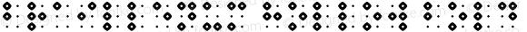 Braillenum Hollow Bold Version 1.000