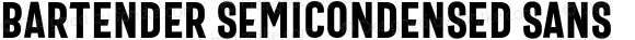 Bartender SemiCondensed Sans