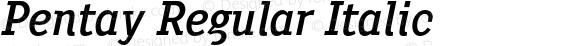Pentay Regular Italic
