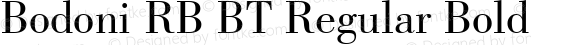 Bodoni RB BT Regular Bold