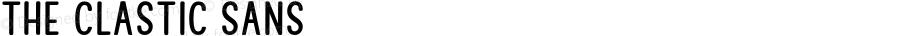 The Clastic Sans Version 1.000;PS 001.000;hotconv 1.0.88;makeotf.lib2.5.64775