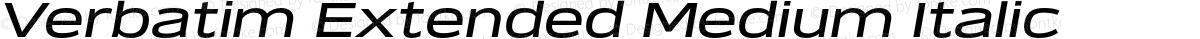 Verbatim Extended Medium Italic