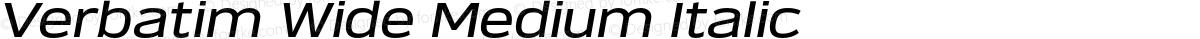 Verbatim Wide Medium Italic