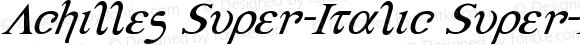 Achilles Super-Italic Super-Italic