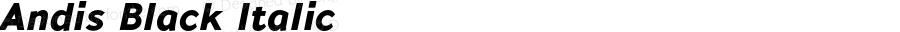 Andis Black Italic Version 2.000;PS 002.000;hotconv 1.0.88;makeotf.lib2.5.64775