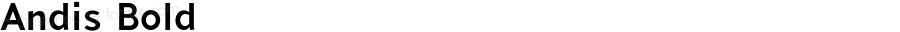 Andis Bold Version 2.000;PS 002.000;hotconv 1.0.88;makeotf.lib2.5.64775