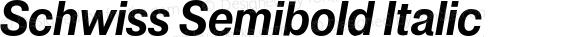 Schwiss Semibold Italic Version 1.001