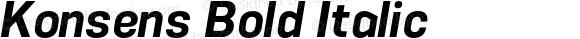 Konsens Bold Italic