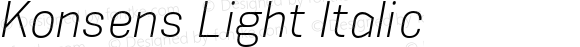 Konsens Light Italic