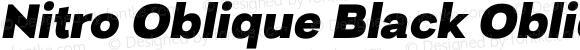 Nitro Oblique Black Oblique