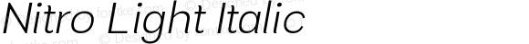 Nitro Light Italic