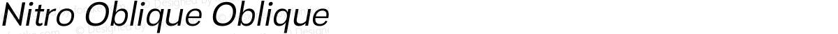 Nitro Oblique Oblique