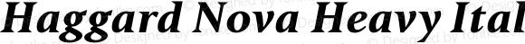 Haggard Nova Heavy Italic