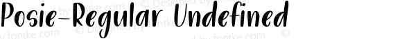 Posie-Regular Undefined