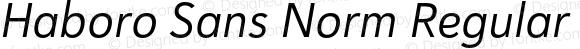 Haboro Sans Norm Regular Italic