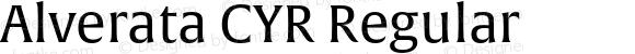 Alverata CYR Regular Version 1.001