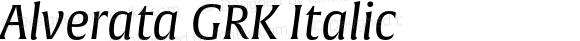 Alverata GRK Italic Version 1.001