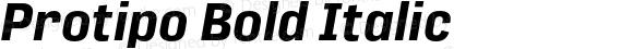 Protipo Bold Italic