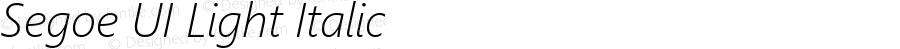 Segoe UI Light Italic Version 5.30