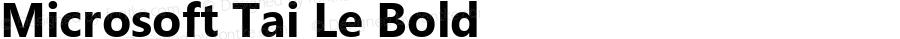 Microsoft Tai Le Bold Version 6.00