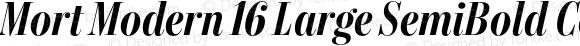 Mort Modern 16 Large SemiBold Condensed Italic