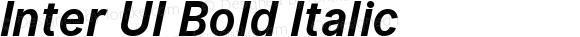 Inter UI Bold Italic