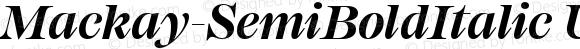 Mackay-SemiBoldItalic