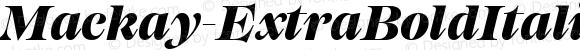 Mackay-ExtraBoldItalic