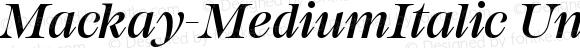 Mackay-MediumItalic
