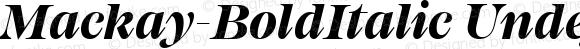 Mackay-BoldItalic