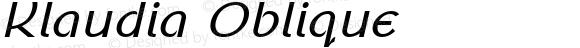 Klaudia Oblique