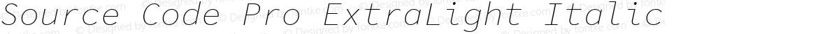 Source Code Pro ExtraLight Italic
