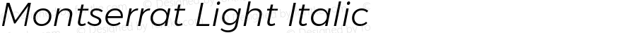 Montserrat Light Italic