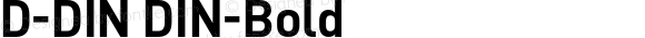 D-DIN DIN-Bold Version 1.00