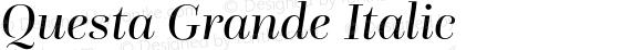 Questa Grande Italic