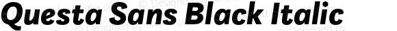 Questa Sans Black Italic