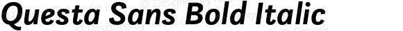 Questa Sans Bold Italic